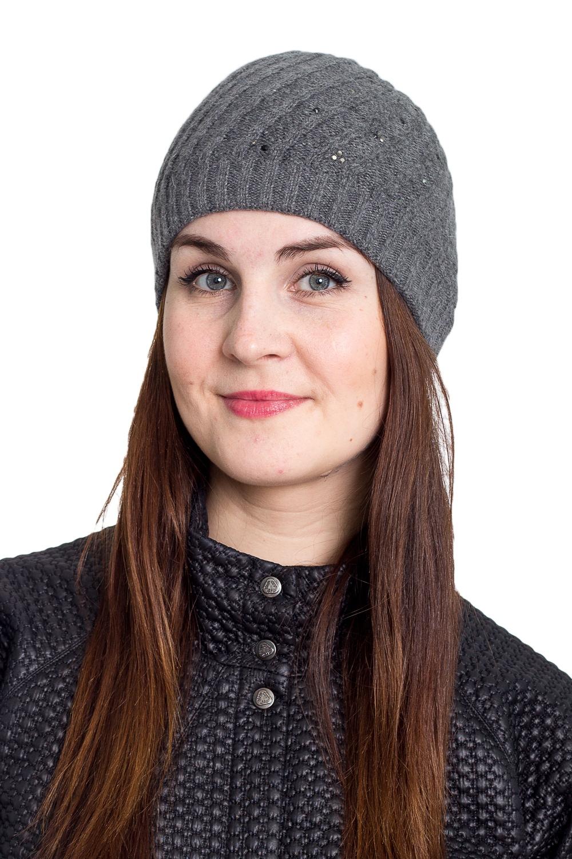 ШапкаШапки<br>Очаровательная шапка подарит Вам тепло и комфорт.  Стильный аксессуар защитит Вас от непогоды и станет прекрасным дополнением Вашего образа.  В изделии использованы цвета: серый<br><br>По материалу: Вязаные<br>По рисунку: Однотонные<br>По сезону: Зима,Осень,Весна<br>По элементам: С декором<br>Размер : universal<br>Материал: Вязаное полотно<br>Количество в наличии: 1
