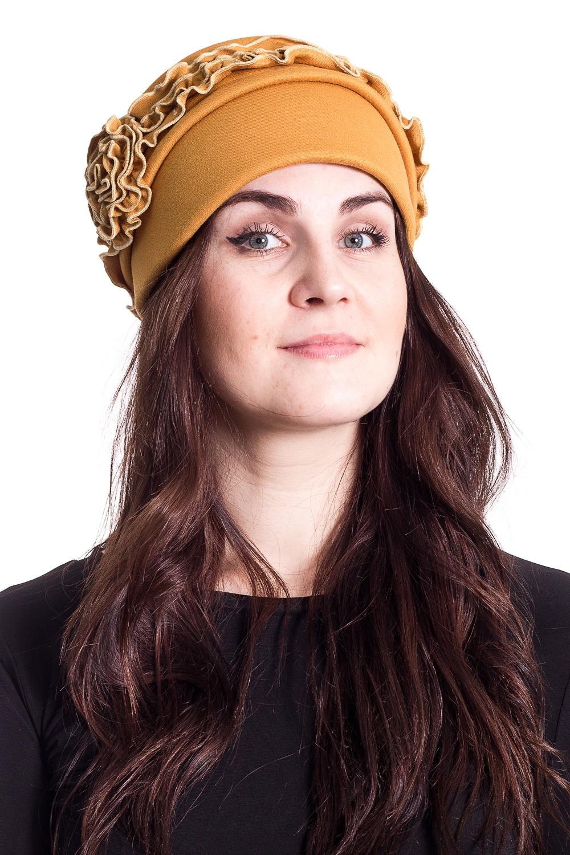 ШапкаШляпы<br>Чудесная шляпа с подкладом из флиса защитит Вас от непогоды и станет прекрасным дополнением Вашего образа.  В изделии использованы цвета: горчичный  Размер universal (56-58) равен обхвату головы в сантиметрах  Обхват головы измеряется по лобной части над уровнем бровей (на 2-3 сантиметра выше) и по самой выпуклой затылочной части.<br><br>По сезону: Осень,Весна<br>Размер : universal<br>Материал: Трикотаж<br>Количество в наличии: 1