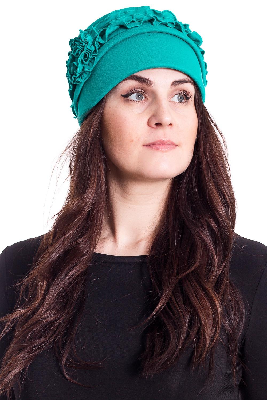 ШапкаШляпы<br>Чудесная шляпа с подкладом из флиса защитит Вас от непогоды и станет прекрасным дополнением Вашего образа.  В изделии использованы цвета: бирюзовый  Размер universal (56-58) равен обхвату головы в сантиметрах  Обхват головы измеряется по лобной части над уровнем бровей (на 2-3 сантиметра выше) и по самой выпуклой затылочной части.<br><br>По сезону: Осень,Весна<br>Размер : universal<br>Материал: Трикотаж<br>Количество в наличии: 1