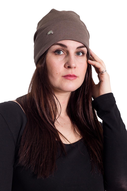 ШапкаШапки<br>Трикотажная шапочка с отворотом защитит Вас от непогоды и станет прекрасным дополнением Вашего образа.  В изделии использованы цвета: коричневый  Размер universal (56-58) равен обхвату головы в сантиметрах  Обхват головы измеряется по лобной части над уровнем бровей (на 2-3 сантиметра выше) и по самой выпуклой затылочной части.<br><br>По материалу: Трикотаж,Шерсть<br>По рисунку: Однотонные<br>По элементам: С декором<br>По сезону: Осень,Весна<br>Размер : universal<br>Материал: Трикотаж<br>Количество в наличии: 2