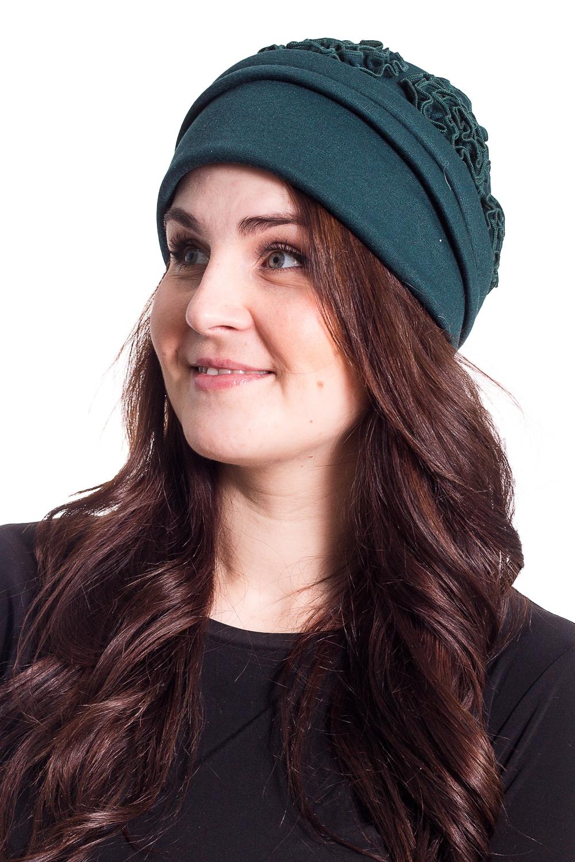 ШапкаШляпы<br>Чудесная шляпа с подкладом из флиса защитит Вас от непогоды и станет прекрасным дополнением Вашего образа.  В изделии использованы цвета: сине-зеленый  Размер universal (56-58) равен обхвату головы в сантиметрах  Обхват головы измеряется по лобной части над уровнем бровей (на 2-3 сантиметра выше) и по самой выпуклой затылочной части.<br><br>По сезону: Осень,Весна<br>Размер : universal<br>Материал: Трикотаж<br>Количество в наличии: 1