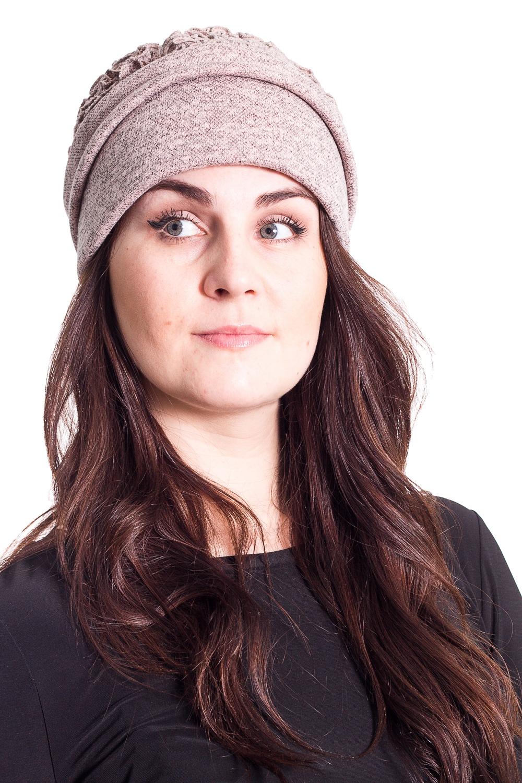 ШапкаШляпы<br>Чудесная шляпа с подкладом из флиса защитит Вас от непогоды и станет прекрасным дополнением Вашего образа.  В изделии использованы цвета: бежево-розовый  Размер universal (56-58) равен обхвату головы в сантиметрах  Обхват головы измеряется по лобной части над уровнем бровей (на 2-3 сантиметра выше) и по самой выпуклой затылочной части.<br><br>По сезону: Осень,Весна<br>Размер : universal<br>Материал: Трикотаж<br>Количество в наличии: 1