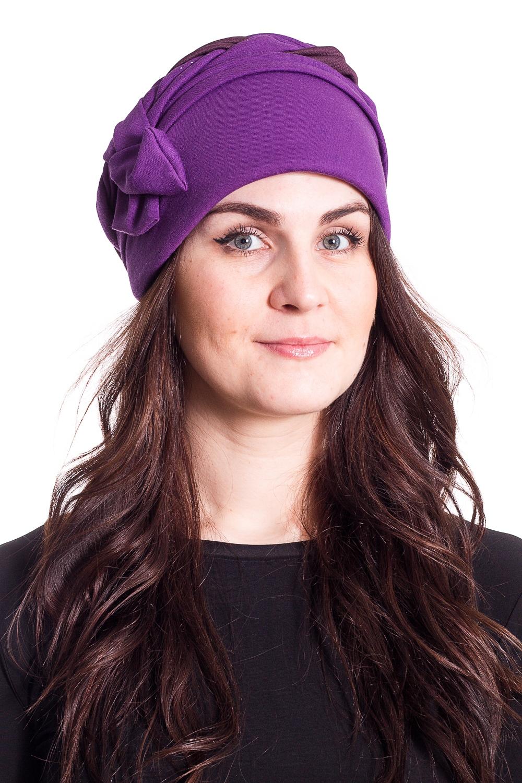 ШапкаШапки<br>Стильная шапка на подкладе из флиса защитит Вас от непогоды и станет прекрасным дополнением Вашего образа.  В изделии использованы цвета: фиолетовый  Размер universal (56-58) равен обхвату головы в сантиметрах  Обхват головы измеряется по лобной части над уровнем бровей (на 2-3 сантиметра выше) и по самой выпуклой затылочной части.<br><br>По материалу: Трикотаж<br>По рисунку: Однотонные<br>По элементам: С декором<br>По сезону: Осень,Весна<br>Размер : universal<br>Материал: Трикотаж<br>Количество в наличии: 1