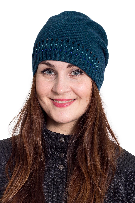 ШапкаШапки<br>Однотонная шапка подарит Вам тепло и комфорт.  Стильный аксессуар защитит Вас от непогоды и станет прекрасным дополнением Вашего образа.  В изделии использованы цвета: морская волна<br><br>По материалу: Вязаные<br>По рисунку: Однотонные<br>По сезону: Зима,Осень,Весна<br>По элементам: С декором<br>Размер : universal<br>Материал: Вязаное полотно<br>Количество в наличии: 1