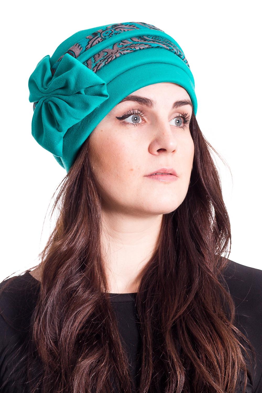 ШапкаШапки<br>Стильная шапка на подкладе из флиса защитит Вас от непогоды и станет прекрасным дополнением Вашего образа.  В изделии использованы цвета: бирюзовый  Размер universal (54-56) равен обхвату головы в сантиметрах  Обхват головы измеряется по лобной части над уровнем бровей (на 2-3 сантиметра выше) и по самой выпуклой затылочной части.<br><br>По материалу: Трикотаж<br>По рисунку: Цветные<br>По элементам: С декором,С подкладом<br>По сезону: Осень,Весна<br>Размер : universal<br>Материал: Трикотаж<br>Количество в наличии: 1