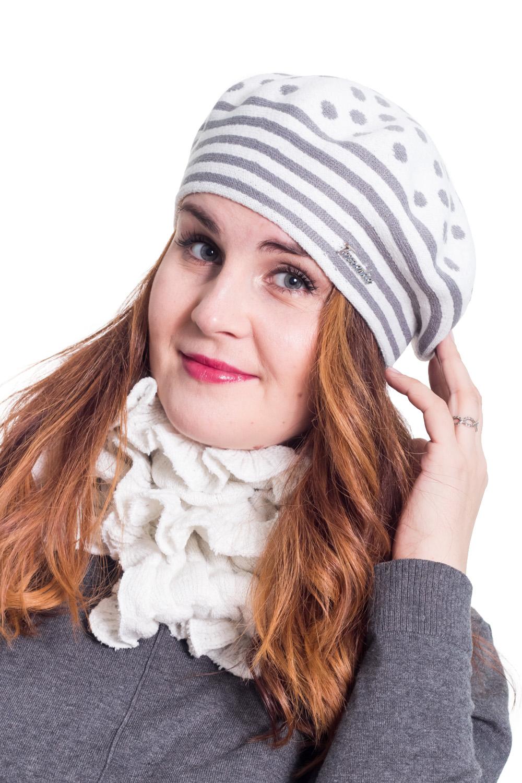 КомплектКомплекты<br>Шерстяной комплект подарит Вам тепло и комфорт, подчеркнет Вашу женственность и станет прекрасным дополнением Вашего образа.  Цвет: серый, белый<br><br>По сезону: Зима<br>Размер : universal<br>Материал: Вязаное полотно<br>Количество в наличии: 1
