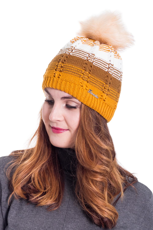 ШапкаШапки<br>Шерстяная шапка подарит Вам тепло и комфорт, подчеркнет Вашу женственность и станет прекрасным дополнением Вашего образа.  Цвет: желтый, бежевый, белый<br><br>По материалу: Вязаные,Шерсть,Трикотаж<br>По рисунку: В полоску,Цветные<br>По сезону: Зима<br>По элементам: С помпоном<br>Размер : universal<br>Материал: Вязаное полотно<br>Количество в наличии: 1