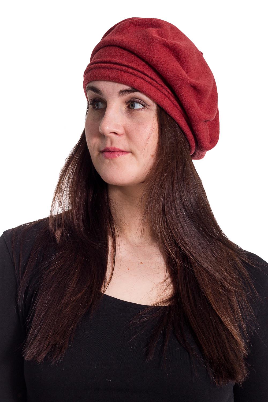 БеретБереты<br>Берет с защипами на околыше с бусинами защитит Вас от непогоды и станет прекрасным дополнением Вашего образа.  В изделии использованы цвета: терракотовый  Размер universal (56-58) равен обхвату головы в сантиметрах  Обхват головы измеряется по лобной части над уровнем бровей (на 2-3 сантиметра выше) и по самой выпуклой затылочной части.<br><br>По сезону: Осень,Весна<br>Размер : universal<br>Материал: Вязаное полотно<br>Количество в наличии: 2