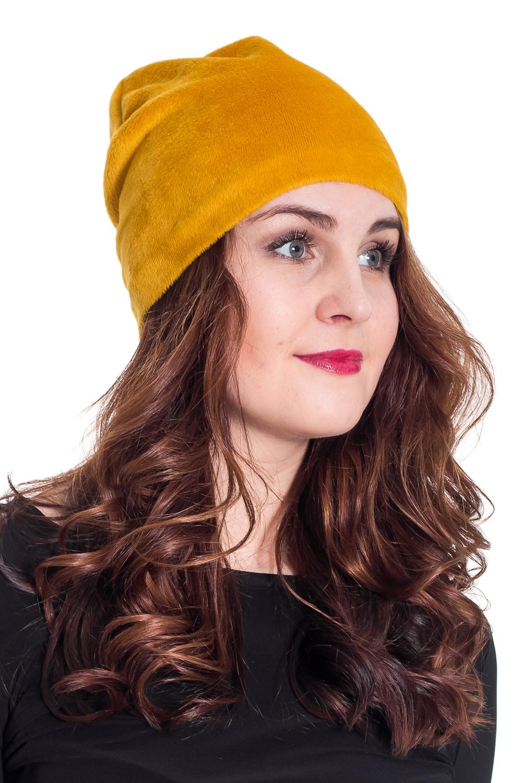 ШапкаШапки<br>Красивая шапка защитит Вас от непогоды и станет прекрасным дополнением Вашего образа.  Цвет: желтый  Размер равен обхвату головы в сантиметрах.  Обхват головы измеряется по лобной части над уровнем бровей (на 2-3 сантиметра выше) и по самой выпуклой затылочной части.<br><br>По рисунку: Однотонные<br>По элементам: С декором<br>По сезону: Осень,Весна<br>По материалу: Трикотаж<br>Размер : 56-58<br>Материал: Трикотаж<br>Количество в наличии: 1