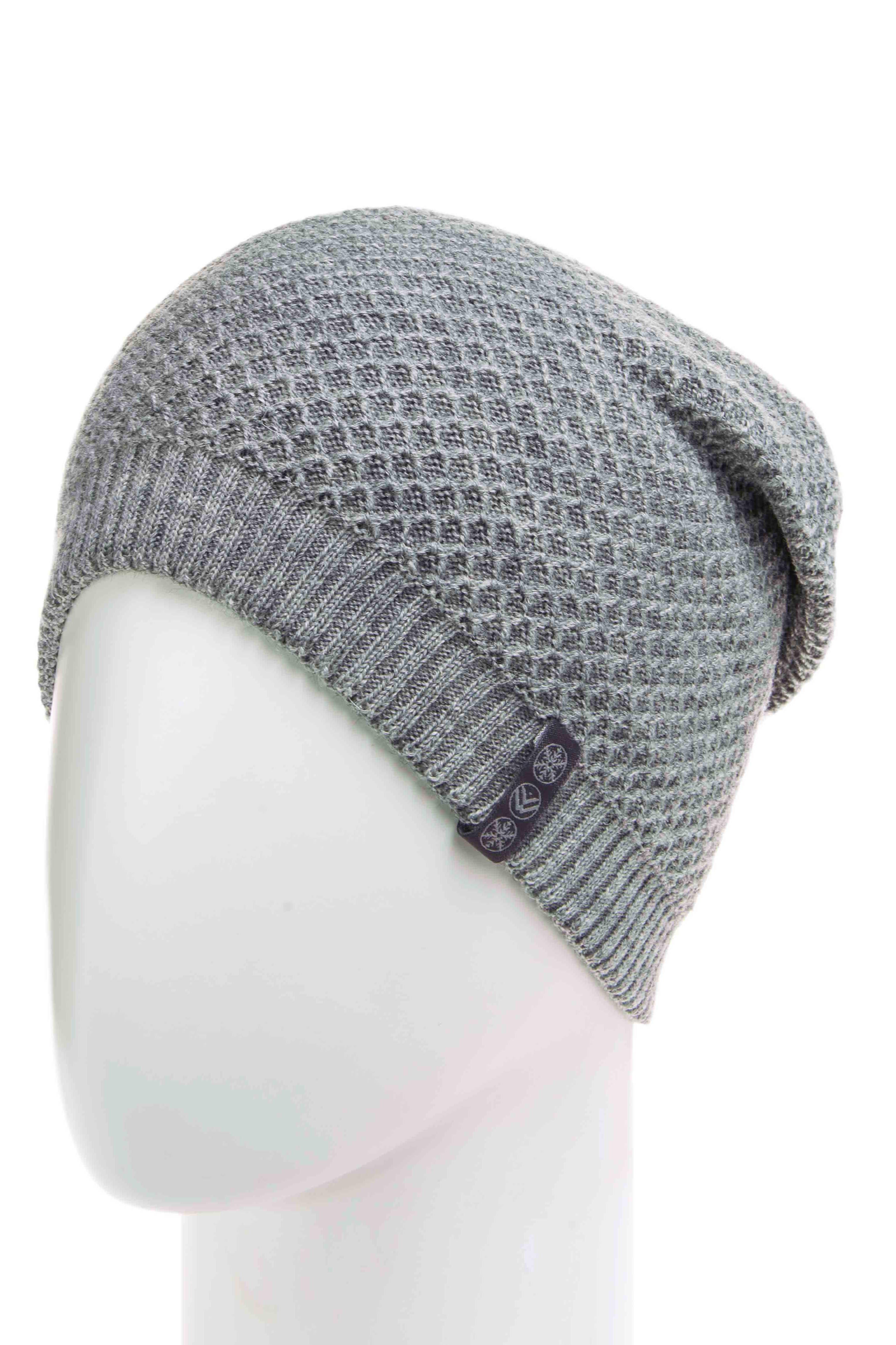 ШапкаШапки<br>Утепленная шапка подарит Вам тепло и комфорт.  Стильный аксессуар защитит Вас от непогоды и станет прекрасным дополнением Вашего образа.  В изделии использованы цвета: серый<br><br>По материалу: Вязаные,Трикотаж,Шерсть<br>По рисунку: Однотонные<br>По сезону: Зима<br>Размер : universal<br>Материал: Вязаное полотно<br>Количество в наличии: 1