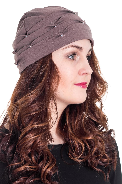 ШапкаШапки<br>Красивая шапка защитит Вас от непогоды и станет прекрасным дополнением Вашего образа.  Цвет: серо-бежевый  Размер равен обхвату головы в сантиметрах.  Обхват головы измеряется по лобной части над уровнем бровей (на 2-3 сантиметра выше) и по самой выпуклой затылочной части.<br><br>По рисунку: Однотонные<br>По элементам: С декором<br>По сезону: Осень,Весна<br>По материалу: Трикотаж<br>Размер : 56-58<br>Материал: Трикотаж<br>Количество в наличии: 1