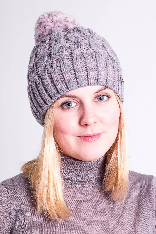 ШапкаШапки<br>Теплая, стильная и элегантная шапочка согреет в любой мороз и добавит неповторимую изюминку вашему образу.  Цвет: серый, розовый<br><br>По материалу: Вязаные,Шерсть<br>По сезону: Зима<br>По элементам: С помпоном<br>По рисунку: Цветные<br>Размер : universal<br>Материал: Шерсть<br>Количество в наличии: 1
