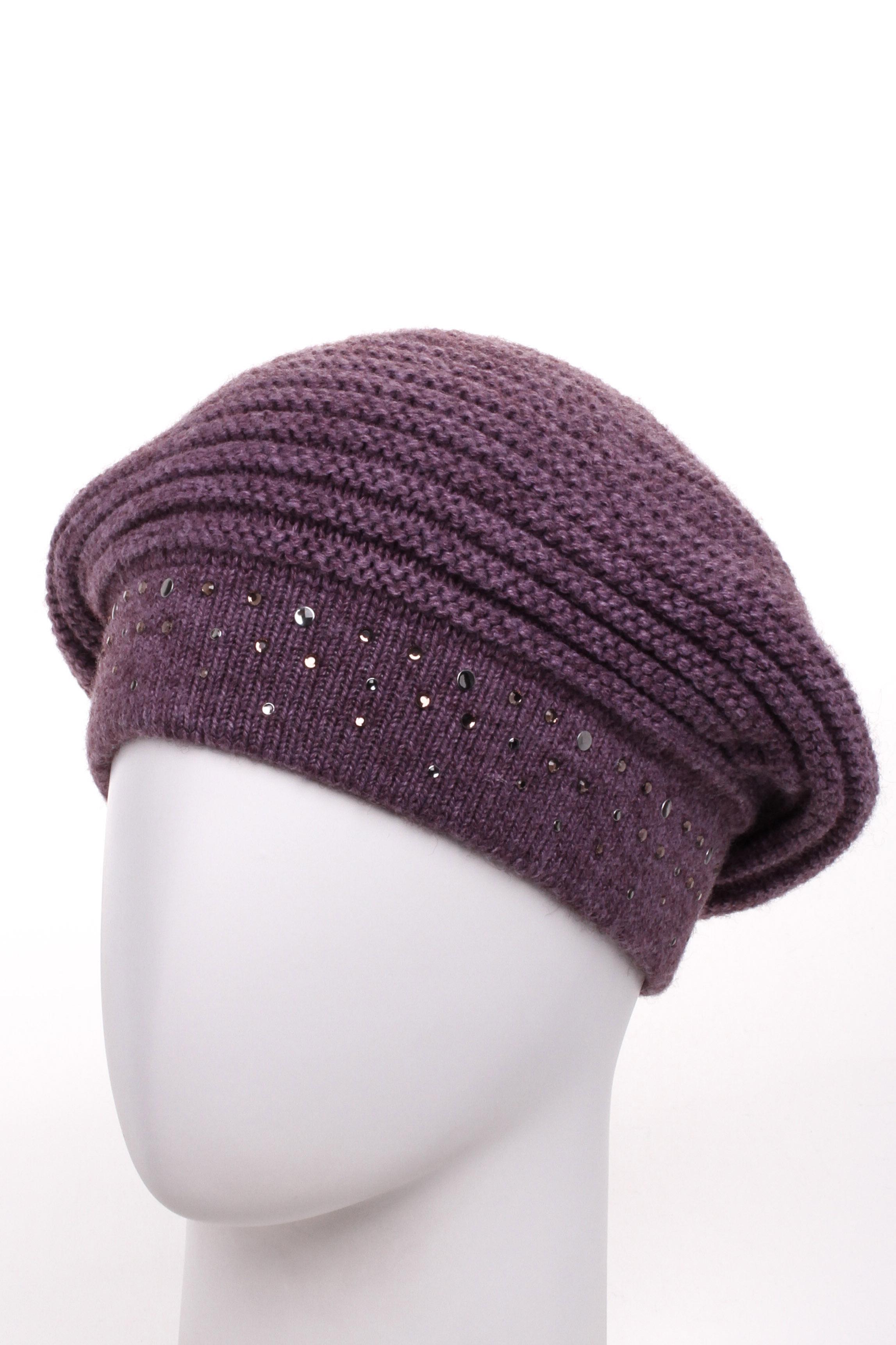 ШапкаШапки<br>Вязаная шапка подарит Вам тепло и комфорт, а так же подчеркнет Вашу женственность и станет прекрасным дополнением Вашего образа.  Цвет: светло-фиолетовый<br><br>По материалу: Вязаные<br>По рисунку: Однотонные<br>По элементам: С декором<br>По сезону: Зима<br>Размер : universal<br>Материал: Вязаное полотно<br>Количество в наличии: 1