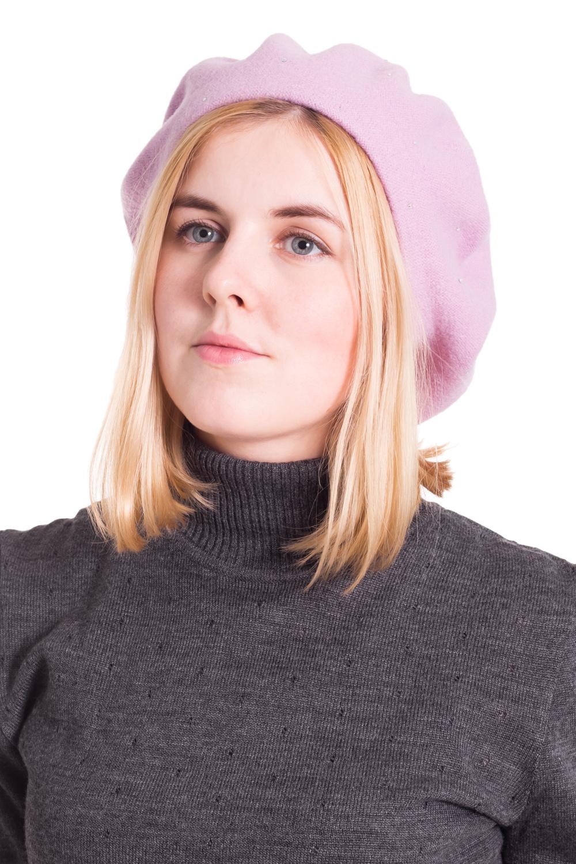 БеретБереты<br>Шерстяной беретик подарит Вам тепло и комфорт, а так же подчеркнет Вашу женственность и станет прекрасным дополнением Вашего образа.  Головной убор стандартного размера 56-58 см.  Цвет: розовый<br><br>По сезону: Осень,Весна<br>Размер : universal<br>Материал: Шерсть<br>Количество в наличии: 2