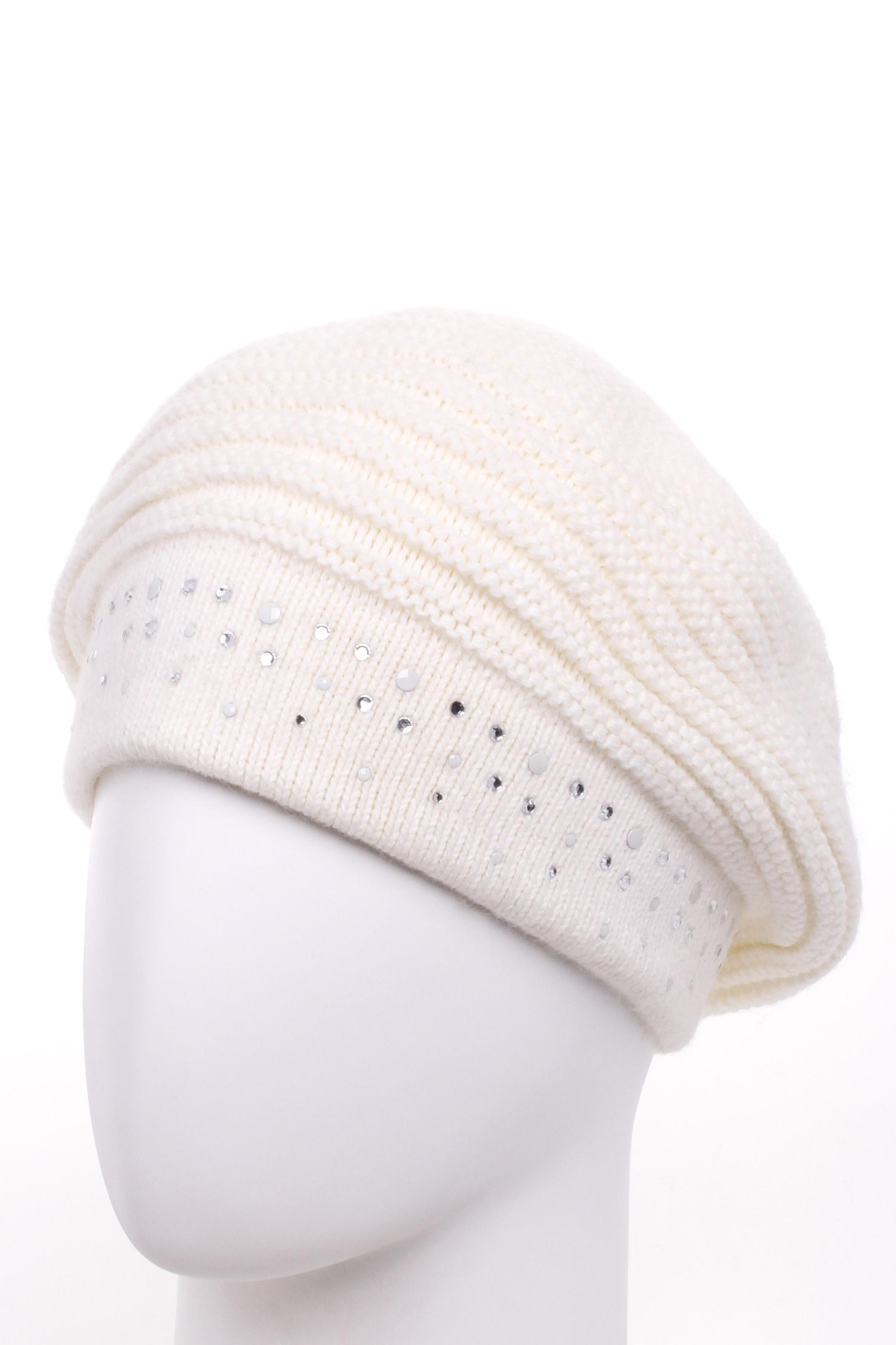 ШапкаШапки<br>Вязаная шапка подарит Вам тепло и комфорт, а так же подчеркнет Вашу женственность и станет прекрасным дополнением Вашего образа.  Цвет: белый<br><br>По материалу: Вязаные<br>По рисунку: Однотонные<br>По элементам: С декором<br>По сезону: Зима<br>Размер : universal<br>Материал: Вязаное полотно<br>Количество в наличии: 1