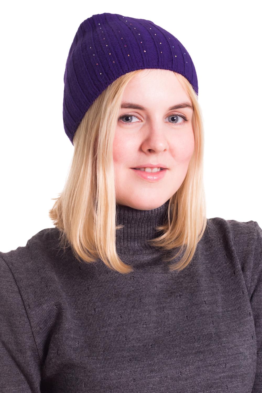 ШапкаШапки<br>Шерстяная шапка подарит Вам тепло и комфорт, а так же подчеркнет Вашу женственность и станет прекрасным дополнением Вашего образа.  Головной убор стандартного размера 56-58 см.  Цвет: фиолетовый<br><br>По материалу: Вязаные,Шерсть,Трикотаж<br>По рисунку: Однотонные<br>По сезону: Весна,Осень<br>Размер : universal<br>Материал: Вязаное полотно<br>Количество в наличии: 1