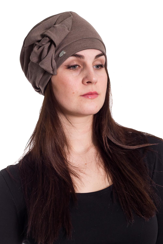ШапкаШапки<br>Трикотажная шапочка на околыше с бантом защитит Вас от непогоды и станет прекрасным дополнением Вашего образа.  В изделии использованы цвета: коричневый  Размер universal (56-58) равен обхвату головы в сантиметрах  Обхват головы измеряется по лобной части над уровнем бровей (на 2-3 сантиметра выше) и по самой выпуклой затылочной части.<br><br>По материалу: Трикотаж<br>По рисунку: Однотонные<br>По элементам: С декором<br>По сезону: Осень,Весна<br>Размер : universal<br>Материал: Трикотаж<br>Количество в наличии: 2