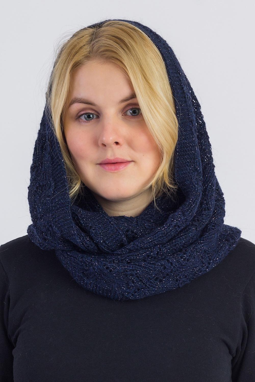Шарф - снуд шарф briollini цвет темно синий