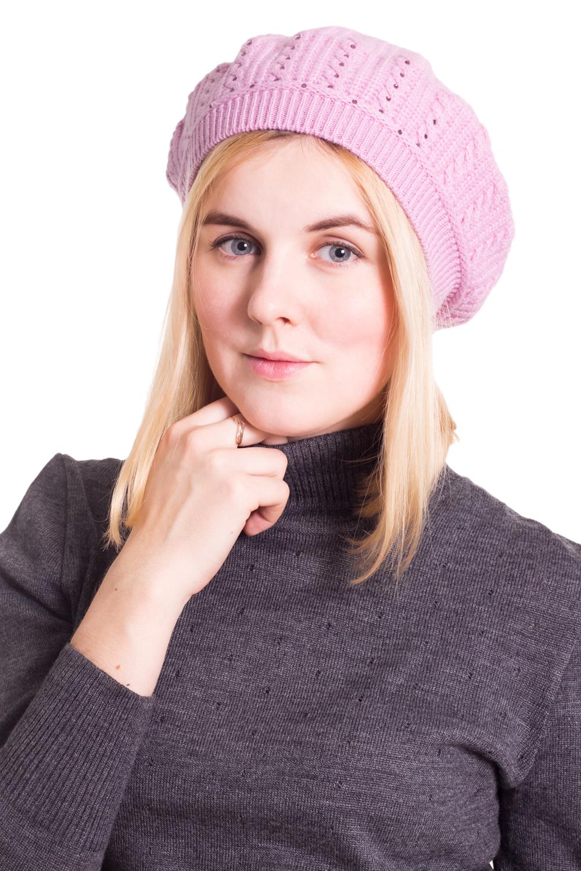 БеретБереты<br>Шерстяной беретик подарит Вам тепло и комфорт, а так же подчеркнет Вашу женственность и станет прекрасным дополнением Вашего образа.  Головной убор стандартного размера 56-58 см.  Цвет: розовый<br><br>По сезону: Осень,Весна<br>Размер : universal<br>Материал: Шерсть<br>Количество в наличии: 1