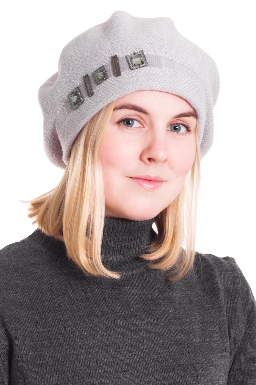БеретБереты<br>Шерстяной беретик подарит Вам тепло и комфорт, а так же подчеркнет Вашу женственность и станет прекрасным дополнением Вашего образа.  Головной убор стандартного размера 56-58 см.  Цвет: серый<br><br>По сезону: Осень,Весна<br>Размер : universal<br>Материал: Шерсть<br>Количество в наличии: 1