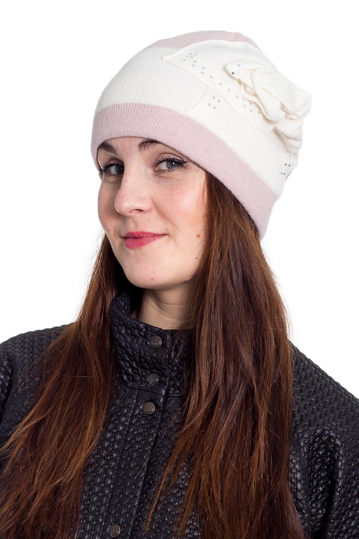 ШапкаШапки<br>Очаровательная шапка подарит Вам тепло и комфорт.  Стильный аксессуар защитит Вас от непогоды и станет прекрасным дополнением Вашего образа.  В изделии использованы цвета: белый, розовый<br><br>По материалу: Вязаные<br>По рисунку: Цветные<br>По сезону: Зима,Осень,Весна<br>По элементам: С декором<br>Размер : universal<br>Материал: Вязаное полотно<br>Количество в наличии: 1