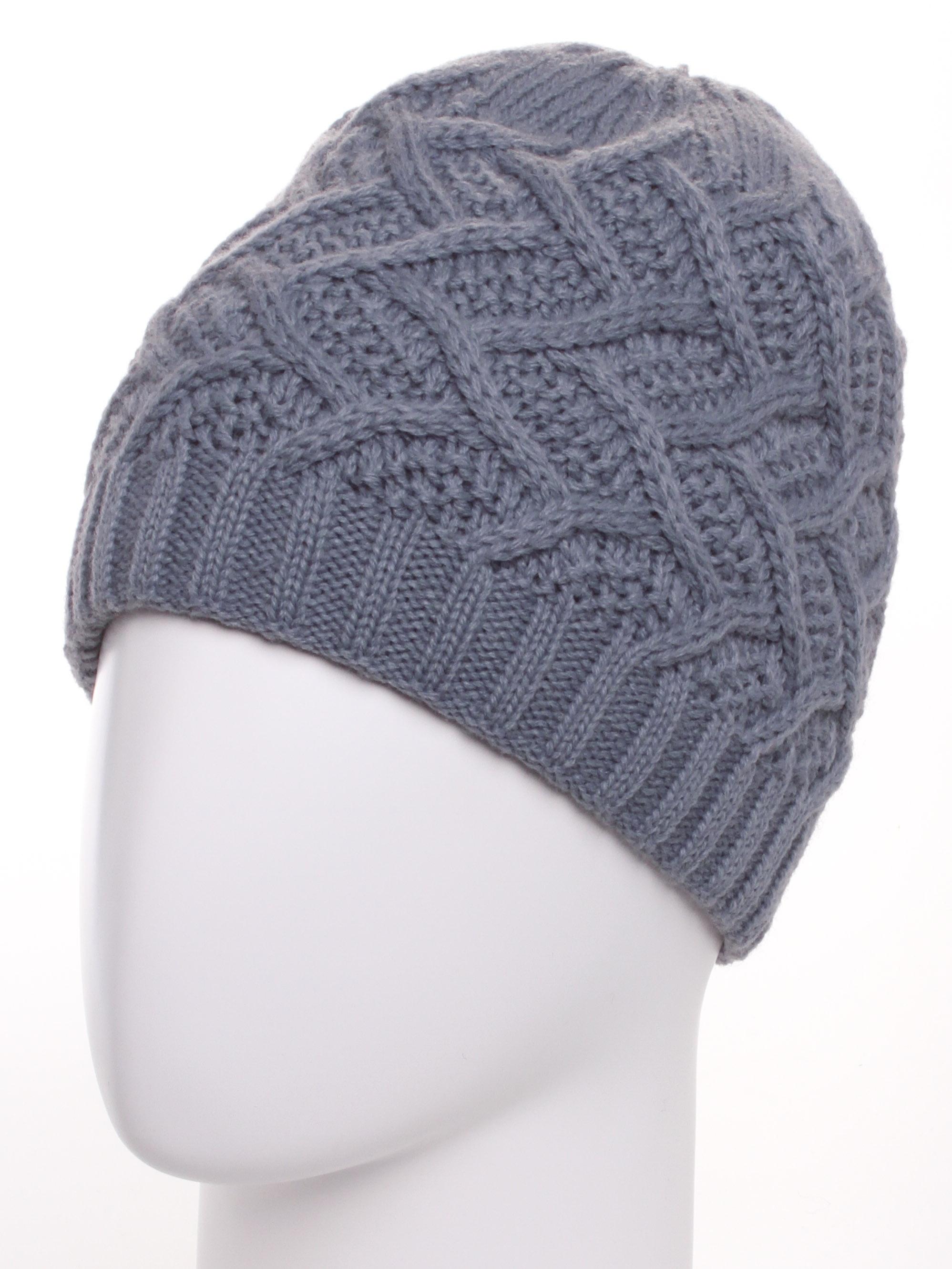 ШапкаШапки<br>Ажурная шапка подарит Вам тепло и комфорт.  Стильный аксессуар защитит Вас от непогоды и станет прекрасным дополнением Вашего образа.  В изделии использованы цвета: серый<br><br>По материалу: Вязаные,Трикотаж<br>По рисунку: Однотонные<br>По сезону: Зима<br>Размер : universal<br>Материал: Вязаное полотно<br>Количество в наличии: 1