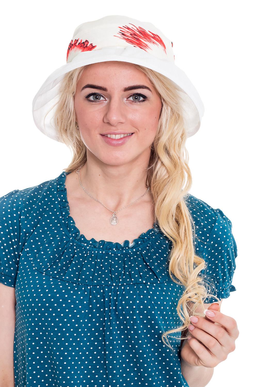 ШляпаШляпы<br>Превосходный головной убор - стильная шляпка из натурального материала защитит Вашу голову в летний зной.   Цвет: белый, мультицвет.  Размер равен обхвату головы в сантиметрах.  Обхват головы измеряется по лобной части над уровнем бровей (на 2-3 сантиметра выше) и по самой выпуклой затылочной части.<br><br>По сезону: Лето<br>Размер: 56-58<br>Материал: 100% лен<br>Количество в наличии: 1