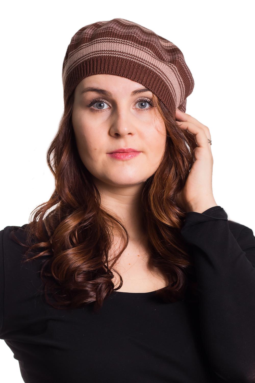 БеретБереты<br>Берет трикотажный, трехцветный, структурнгой вязки. Сезон: осень/весна Цвет: коричневый, бежевый  Шерстяной беретик подарит Вам тепло и комфорт.  Стильный берет подчеркнет Вашу женственность и станет прекрасным дополнением Вашего образа.<br><br>По сезону: Осень,Весна<br>Размер : universal<br>Материал: Вязаное полотно<br>Количество в наличии: 1