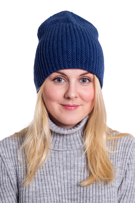 ШапкаШапки<br>Вязаная шапка подарит Вам тепло и комфорт, а так же подчеркнет Вашу женственность и станет прекрасным дополнением Вашего образа.  Головной убор стандартного размера 56-58 см.  Цвет: синий<br><br>По материалу: Вязаные,Шерсть<br>По рисунку: Однотонные<br>По сезону: Осень,Весна<br>Размер : universal<br>Материал: Вязаное полотно<br>Количество в наличии: 1