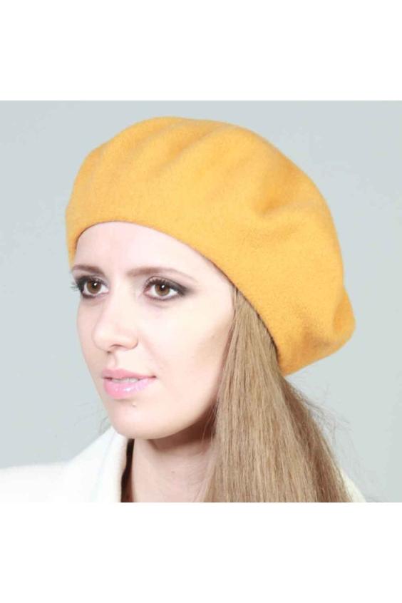 БеретБереты<br>Шерстяной однотонный беретик подарит Вам тепло и комфорт.  Стильный берет подчеркнет Вашу женственность и станет прекрасным дополнением Вашего образа. Головной убор стандартного размера 56-58 см.  Цвет: желтый<br><br>По сезону: Осень,Весна<br>Размер : universal<br>Материал: Шерсть<br>Количество в наличии: 2