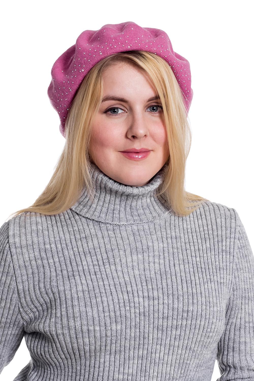 БеретБереты<br>Шерстяной беретик подарит Вам тепло и комфорт.  Стильный берет подчеркнет Вашу женственность и станет прекрасным дополнением Вашего образа.  Головной убор стандартного размера 56-58 см.  Цвет: розовый<br><br>По сезону: Зима<br>Размер : universal<br>Материал: Шерсть<br>Количество в наличии: 1