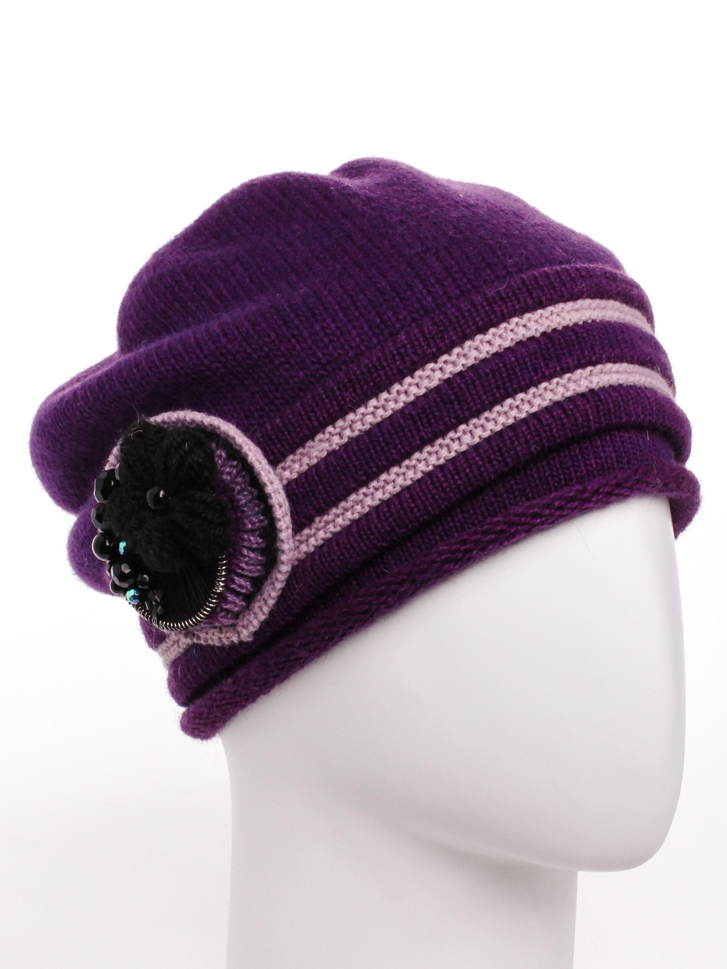 БеретБереты<br>Очаровательный берет подарит Вам тепло и комфорт.  Стильный аксессуар подчеркнет Вашу женственность и станет прекрасным дополнением Вашего образа.  В изделии использованы цвета: фиолетовый, розовый<br><br>По сезону: Осень,Весна<br>Размер : universal<br>Материал: Вязаное полотно<br>Количество в наличии: 1