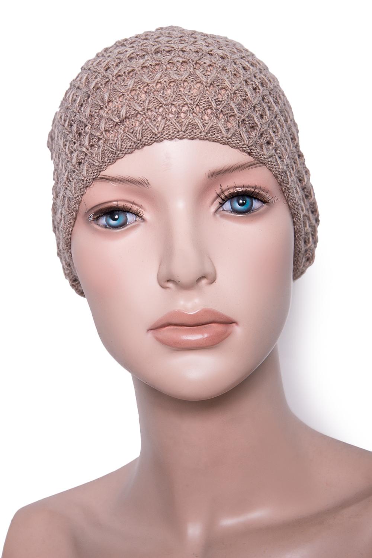 ШапкаШапки<br>Красивая шапка защитит Вас от непогоды и станет прекрасным дополнением Вашего образа.  Цвет: бежевый<br><br>По материалу: Вязаные,Трикотаж<br>По рисунку: Однотонные<br>По сезону: Осень,Весна<br>Размер : universal<br>Материал: Вязаное полотно<br>Количество в наличии: 1