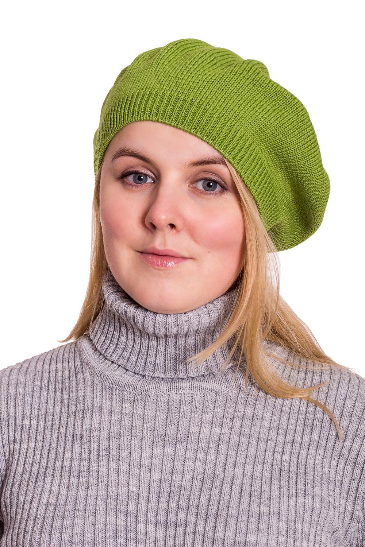 БеретБереты<br>Красивый берет защитит Вас от непогоды и станет прекрасным дополнением Вашего образа.  Цвет: зеленый<br><br>По сезону: Осень,Весна<br>Размер : universal<br>Материал: Вязаное полотно<br>Количество в наличии: 1