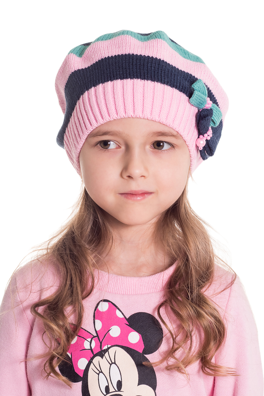 БеретГоловные уборы<br>Шапка для девочки защитит Вашего ребенка от непогоды и поднимет настроение.  Размер равен обхвату головы в сантиметрах.  Цвет: розовый, бирюзовый, синий  Сезон весенне-осенний. Толщина одинарная.<br><br>По сезону: Осень,Весна<br>Размер: 46-48<br>Материал: 70% акрил 30% шерсть<br>Количество в наличии: 1