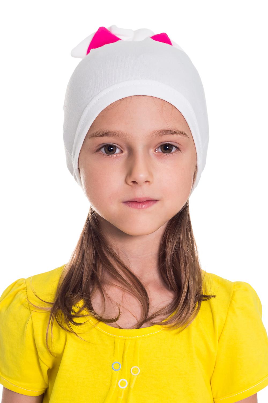 ШапочкаГоловные уборы<br>Шапка для девочки со стразами защитит Вашего ребенка от непогоды и поднимет настроение.  Размер равен обхвату головы в сантиметрах.  В изделии использованы цвета: белый, розовый.<br><br>По сезону: Осень,Весна<br>Размер : 50-54<br>Материал: Трикотаж<br>Количество в наличии: 2