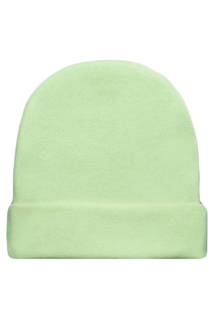 ШапкаШапочки<br>Хлопковая шапочка для новорожденного  Цвет: зеленый  Размер соответствует объему головы в сантиметрах<br><br>По сезону: Всесезон<br>Размер : 44,48<br>Материал: Хлопок<br>Количество в наличии: 2