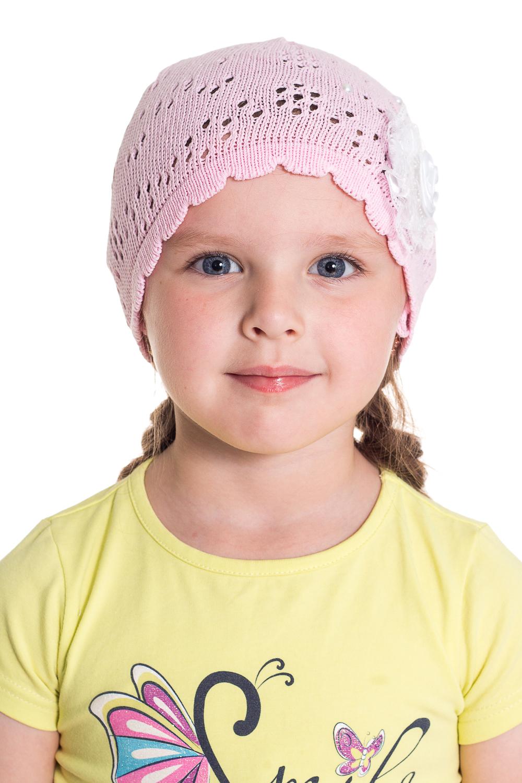 ШапочкаГоловные уборы<br>Шапочка для девочки защитит Вашего ребенка от непогоды и поднимет настроение.  Размер равен обхвату головы в сантиметрах.  Цвет: розовый.<br><br>По сезону: Лето<br>Размер : 48-50<br>Материал: Хлопок<br>Количество в наличии: 1