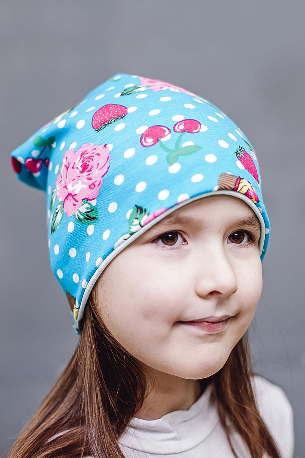 ШапкаГоловные уборы<br>Шапка для девочки защитит Вашего ребенка от непогоды и поднимет настроение.  Размер равен обхвату головы в сантиметрах.  Цвет: голубой, розовый, белый.<br><br>По сезону: Лето<br>Размер : 40-45,45-50<br>Материал: Трикотаж<br>Количество в наличии: 3