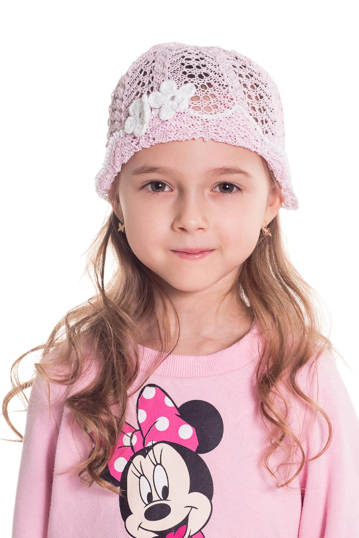 ШапкаГоловные уборы<br>Шапка для девочки защитит Вашего ребенка от непогоды и поднимет настроение.  Размер равен обхвату головы в сантиметрах.  Цвет: розовый.  Сезон прохладное лето.<br><br>По сезону: Лето<br>Размер : 48-52<br>Материал: Вязаное полотно<br>Количество в наличии: 3
