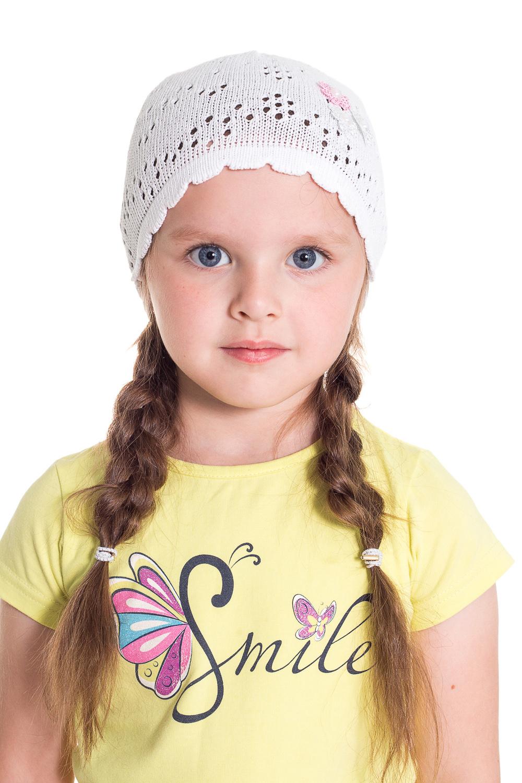 ШапочкаГоловные уборы<br>Шапочка для девочки защитит Вашего ребенка от непогоды и поднимет настроение.  Размер равен обхвату головы в сантиметрах.  Цвет: белый<br><br>По сезону: Лето<br>Размер : 44-46<br>Материал: Хлопок<br>Количество в наличии: 8