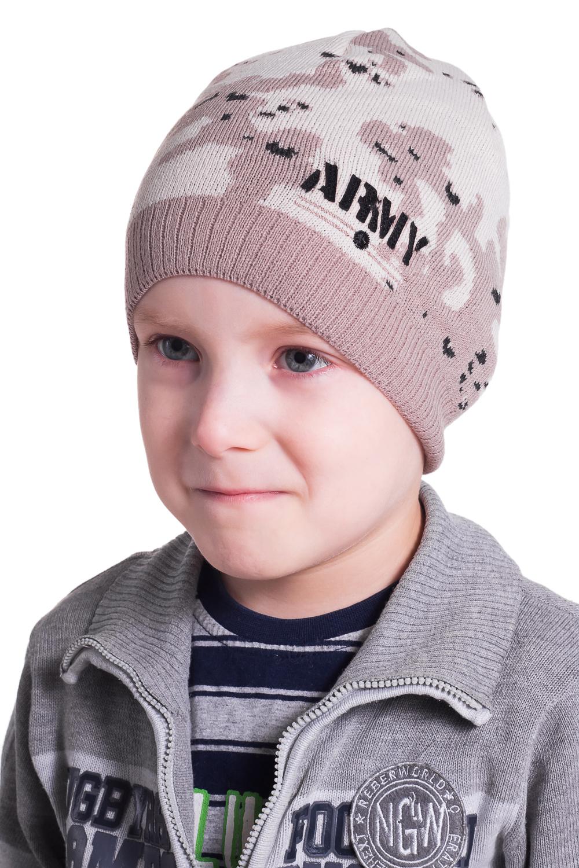 ШапкаГоловные уборы<br>Шапочка для мальчика защитит Вашего ребенка от непогоды и поднимет настроение.  Цвет: бежевый<br><br>По сезону: Осень,Весна<br>Размер: 52-54<br>Материал: 70% акрил 30% шерсть<br>Количество в наличии: 1
