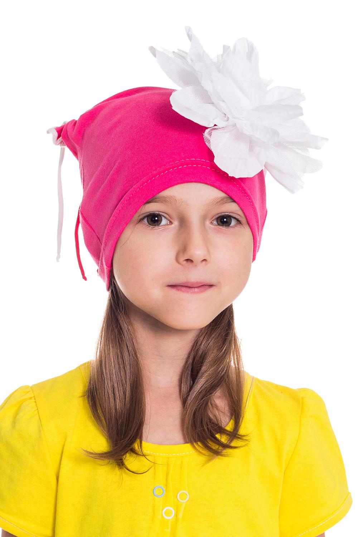 ШапочкаГоловные уборы<br>Шапка для девочки защитит Вашего ребенка от непогоды и поднимет настроение.  Размер равен обхвату головы в сантиметрах.  Цвет: розовый и др.<br><br>По сезону: Осень,Весна<br>Размер : 50-54<br>Материал: Трикотаж<br>Количество в наличии: 5