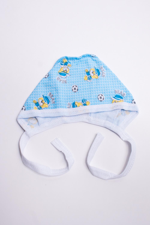 ЧепчикШапочки<br>Хлопковый чепчик для новорожденного.  В изделии использованы цвета: голубой и др.  Размер соответствует обхвату головы в сантиметрах.<br><br>По сезону: Всесезон<br>Размер : 36<br>Материал: Футер<br>Количество в наличии: 1