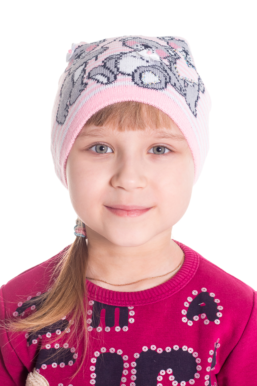 ШапкаГоловные уборы<br>Шапка для девочки защитит Вашего ребенка от непогоды и поднимет настроение.  Размер равен обхвату головы в сантиметрах.  Цвет: розовый и др.  Сезон весенне-осенний. Толщина одинарная.<br><br>По сезону: Осень,Весна<br>Размер : 48-50<br>Материал: Вязаное полотно<br>Количество в наличии: 1
