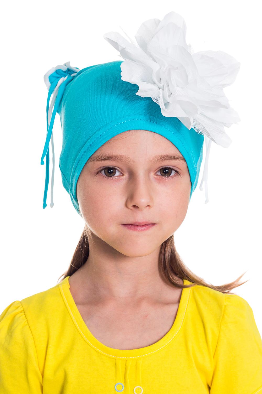 ШапочкаГоловные уборы<br>Шапка для девочки защитит Вашего ребенка от непогоды и поднимет настроение.  Размер равен обхвату головы в сантиметрах.  Цвет: голубой и др.<br><br>По сезону: Осень,Весна<br>Размер : 50-54<br>Материал: Трикотаж<br>Количество в наличии: 5