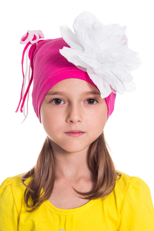ШапочкаГоловные уборы<br>Шапка для девочки защитит Вашего ребенка от непогоды и поднимет настроение.  Размер равен обхвату головы в сантиметрах.  Цвет: розовый и др.<br><br>По сезону: Осень,Весна<br>Размер : 50-54<br>Материал: Трикотаж<br>Количество в наличии: 2
