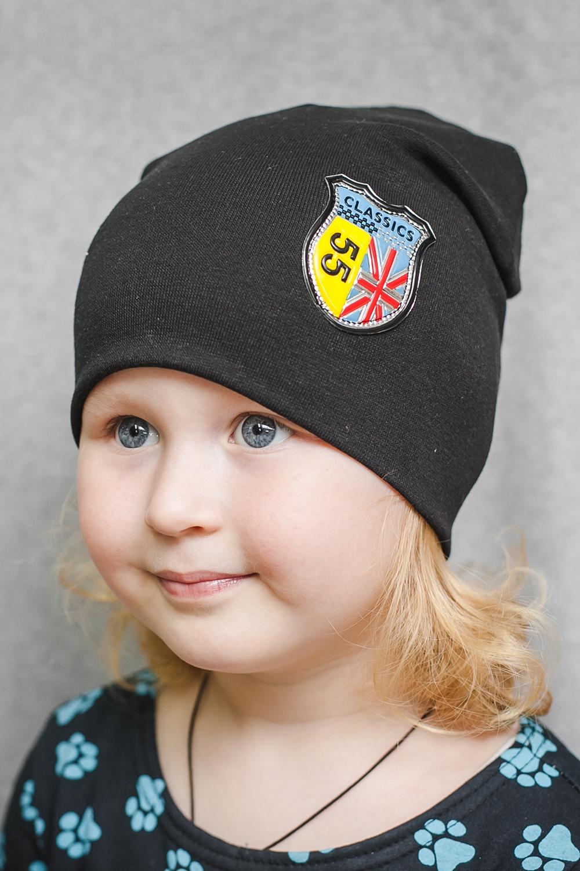 ШапкаГоловные уборы<br>Шапка для девочки защитит Вашего ребенка от непогоды и поднимет настроение.  Размер равен обхвату головы в сантиметрах.  Цвет: черный<br><br>По сезону: Осень,Весна<br>Размер : 40-45,45-50,50-55<br>Материал: Трикотаж<br>Количество в наличии: 6