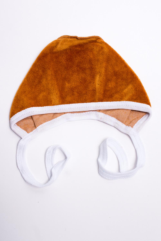 ЧепчикШапочки<br>Хлопковый чепчик для новорожденного.  В изделии использованы цвета: коричневый, белый  Размер соответствует обхвату головы в сантиметрах.<br><br>По сезону: Всесезон<br>Размер : 38<br>Материал: Велюр<br>Количество в наличии: 2