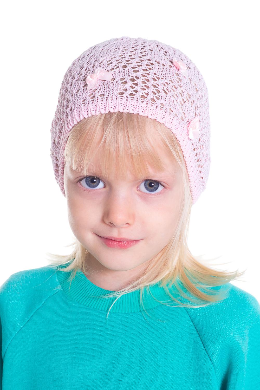 ШапкаГоловные уборы<br>Шапка для девочки защитит Вашего ребенка от непогоды и поднимет настроение.  Размер равен обхвату головы в сантиметрах.  Цвет: розовый  Сезон весенне-осенний. Толщина одинарная.<br><br>По сезону: Осень,Весна<br>Размер : 44-46<br>Материал: Вязаное полотно<br>Количество в наличии: 1